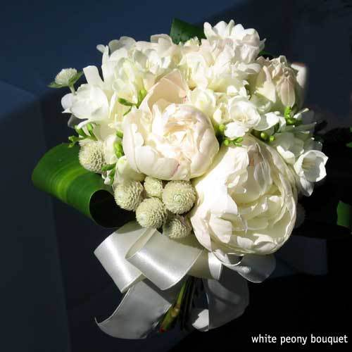 Wedding flowers spring hill peony farm white peony bouquet l mightylinksfo